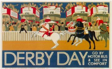 Vintage London Underground poster - Derby Day